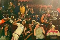 Children smiling in Real Art Ways cinema