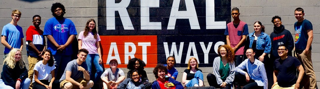 A large gathering of youth participating in the Educational Programs available at Real Art Ways