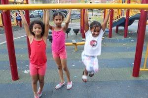 3 girls playing