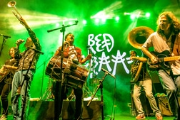 Red Baraat on stage during a concert