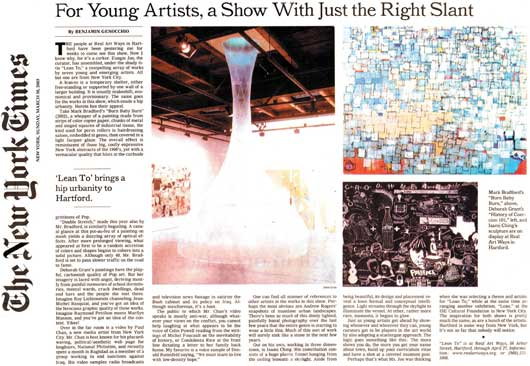 New York Times article about Lean Too exhibition.