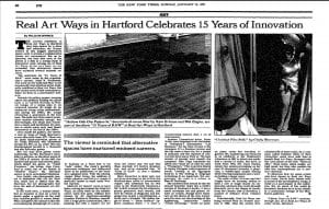 NY Times article featuring Cindy Sherman's work.