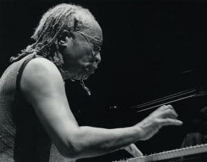 Musician, Cecil Taylor playing the piano
