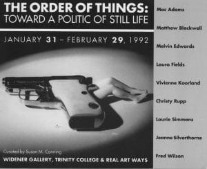 """Postcard from group exhibition """"The Order of Things""""."""