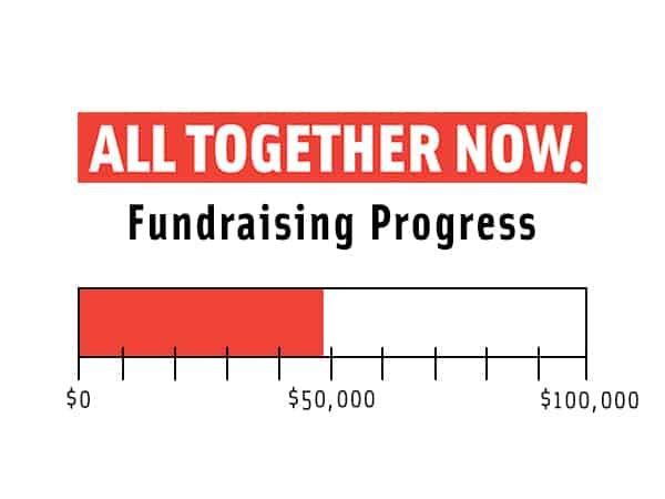 fundraising progress thermometer