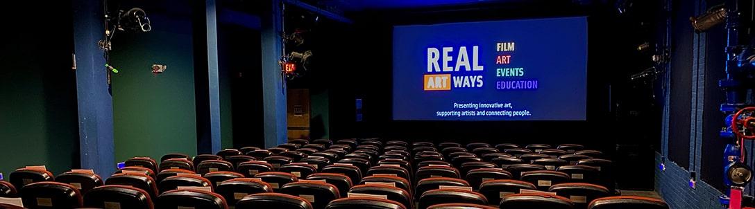 Real Art Ways empty movie theatre