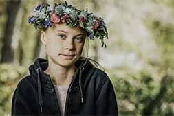 Great Thundberg with a crown of flowers