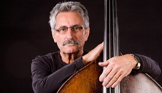 Mario Pavone with a stand up bass