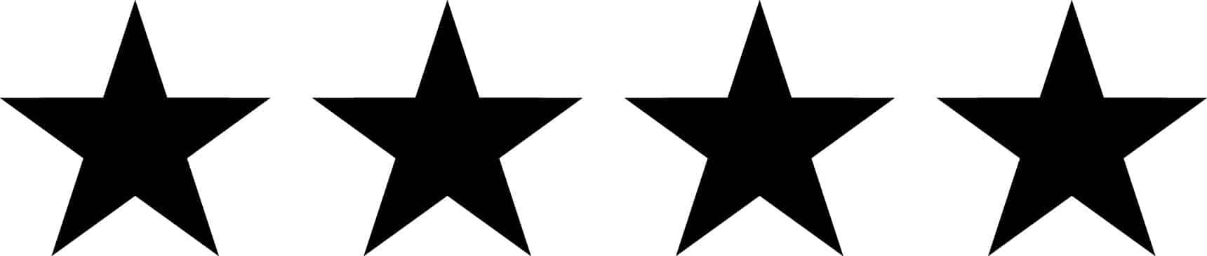 Four black stars in a row