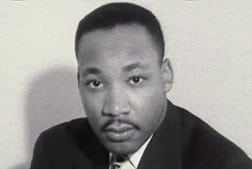 black and white portrait of Martin Luther King Jr.