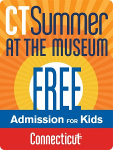 Ct Summer at the Museums logo with clip art of a sun